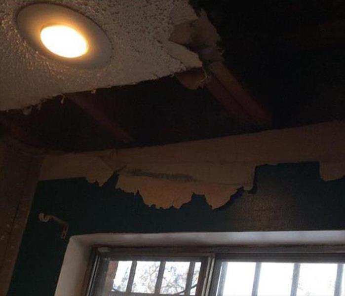 Storm Damaged Roof and Ceiling in Silt