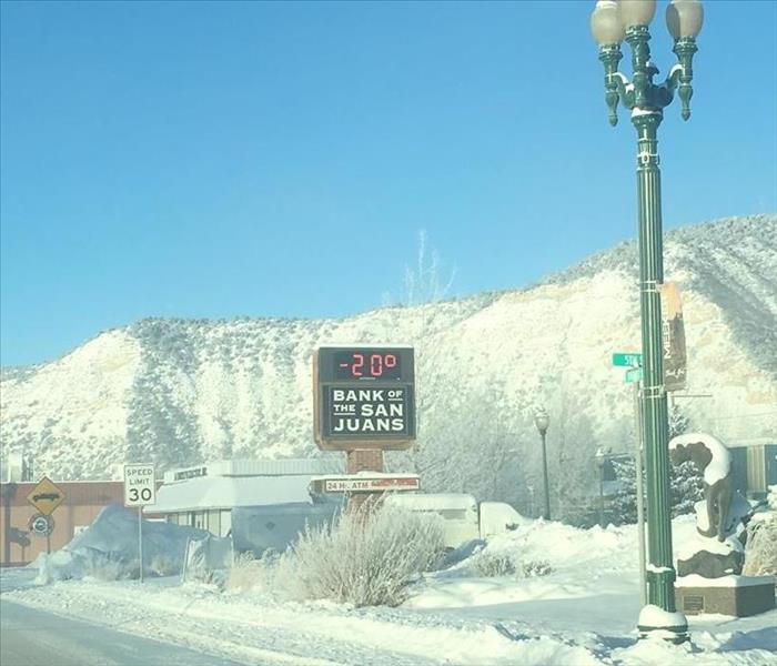 Storm Damage Even in -20 Degree weather SERVPRO of Garfield & Pitkin County is there for you!